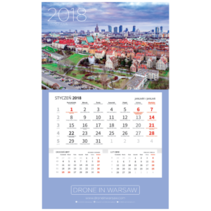 Kalendarz jednodzielny Warszawa 2018