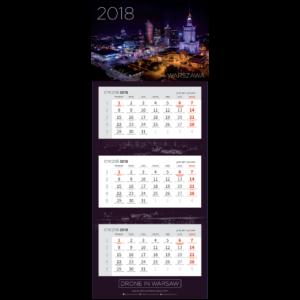 Kalendarz trójdzielny Warszawa 2018