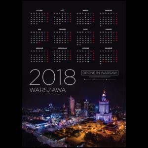 Kalendarz listwowany A1 Warszawa 2018