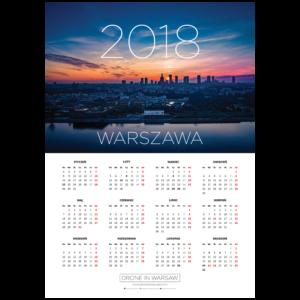 Kalendarz listwowany A2 Warszawa 2018
