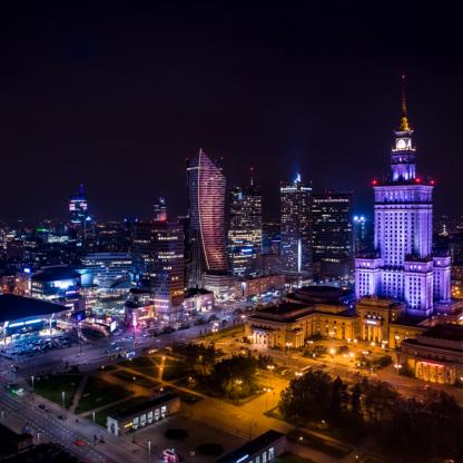 Fotoobraz Warsaw by night