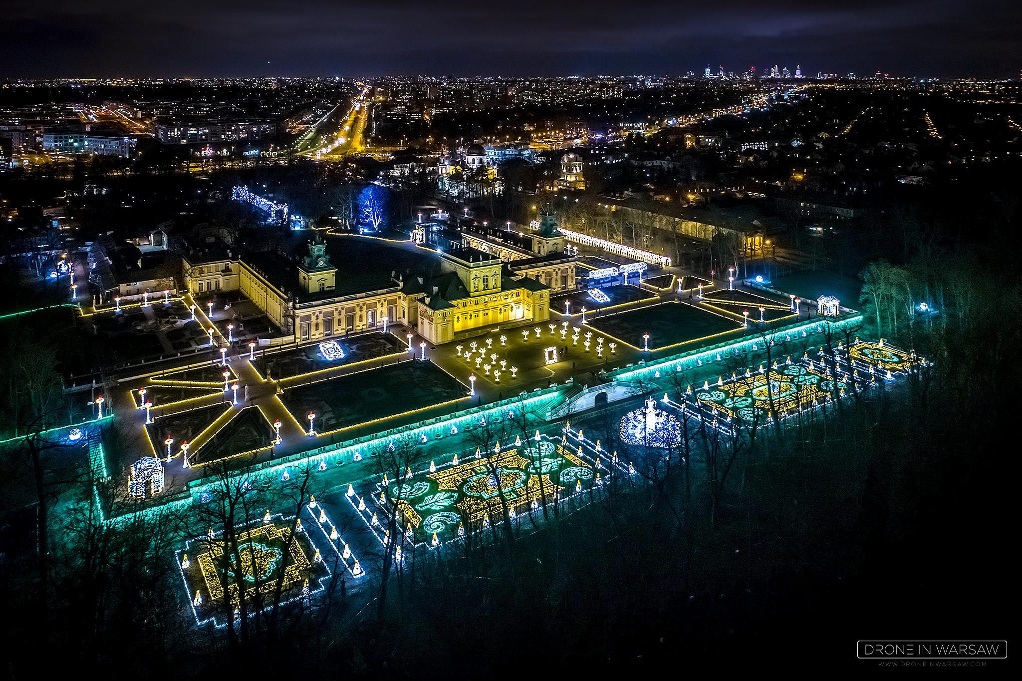 Królewski Ogród światła Drone In Warsaw